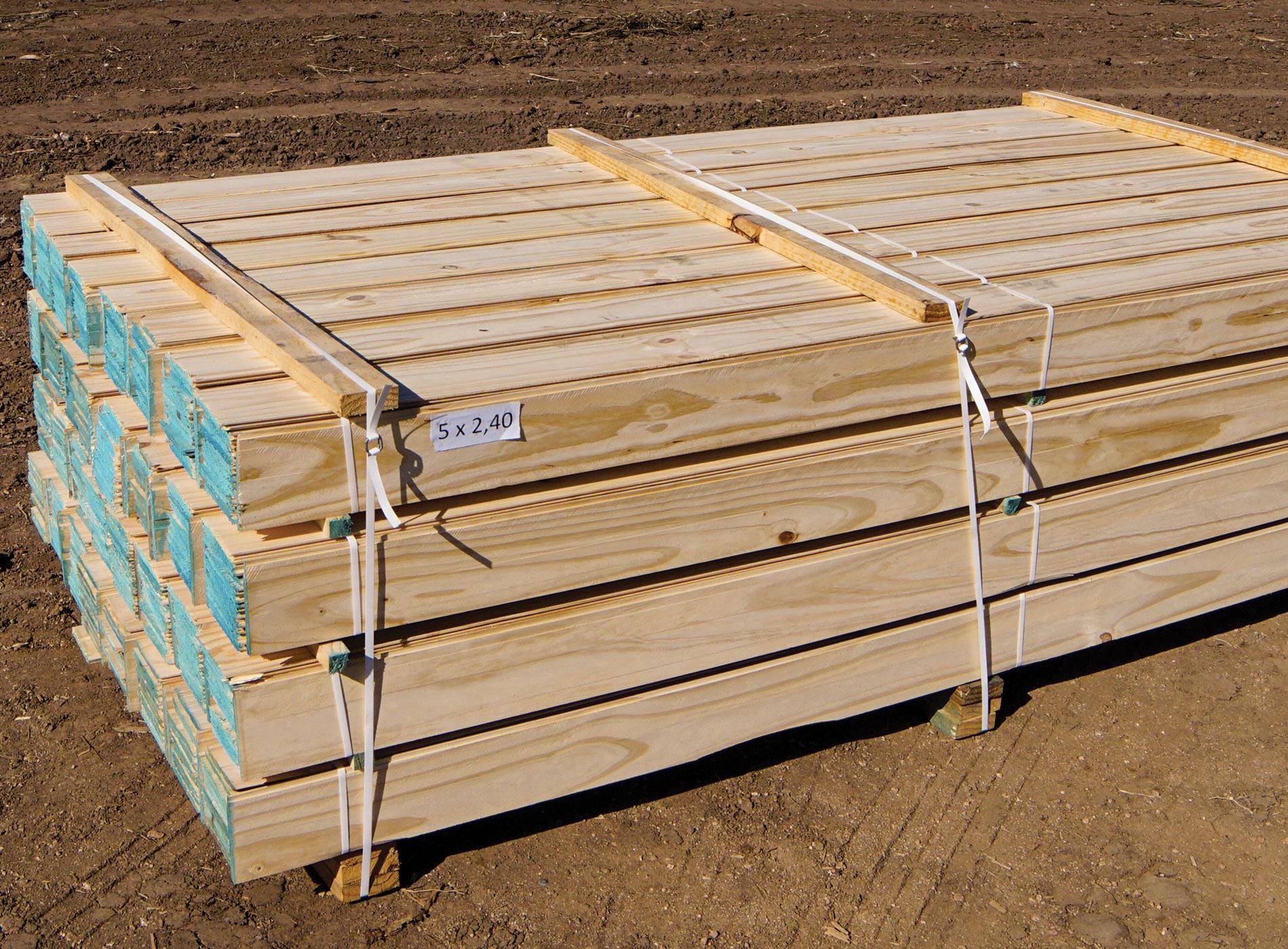 Tablas de madera para pisos machimbrada