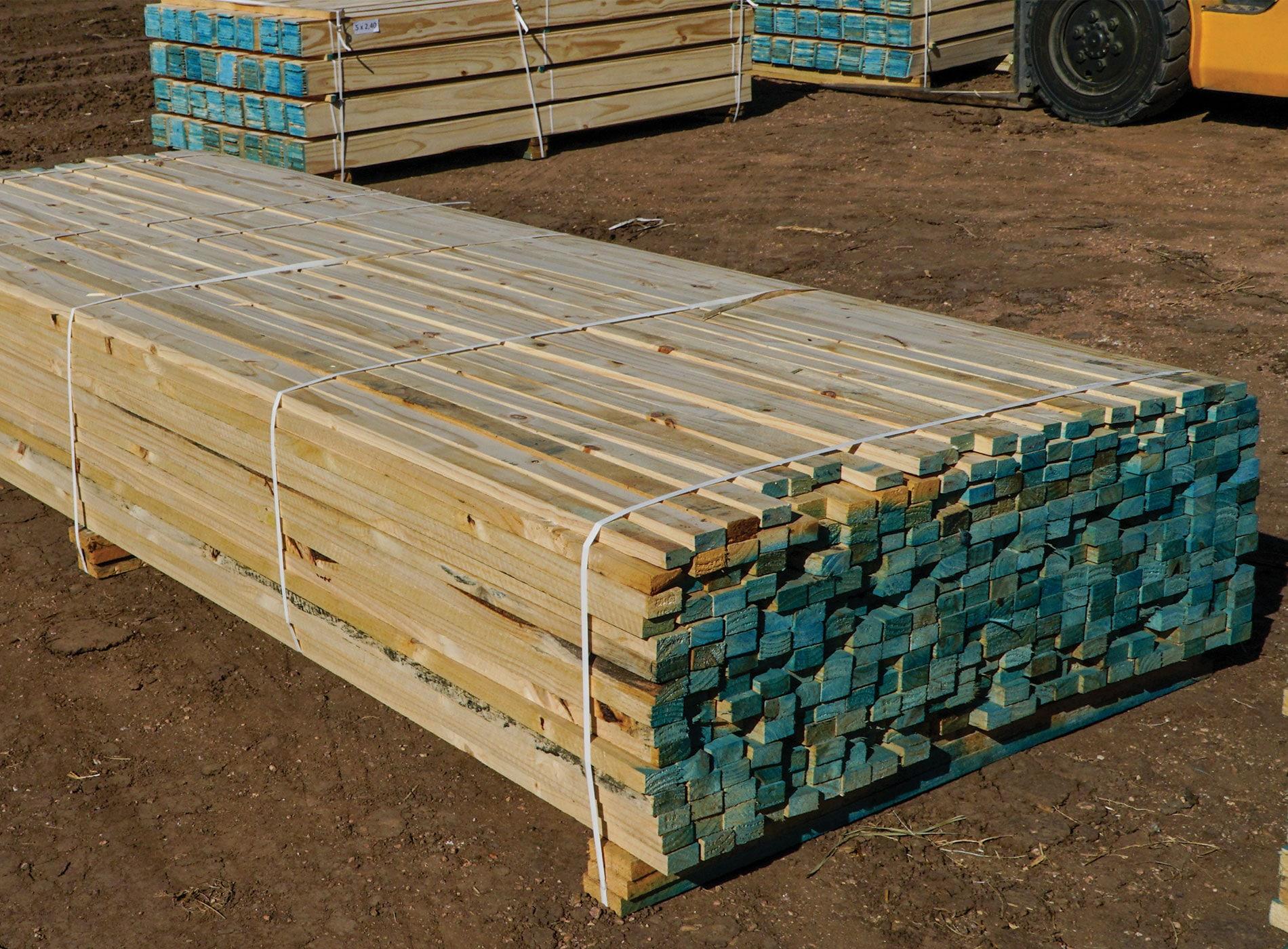 Tablas y alfajías madera seca
